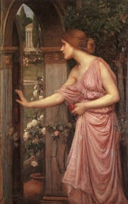 Psyche entering Cupid's Garden - J.W. Waterhouse, 1905. Public Domain