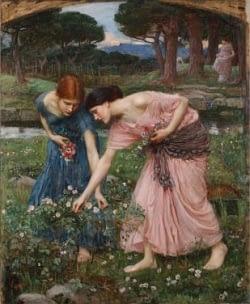 Gather rosebuds while ye may. J.W. Waterhouse - Public Domain