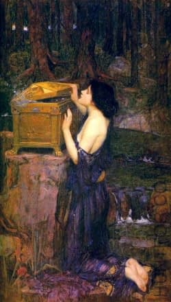 Pandora - J.W. Waterhouse. Public Domain