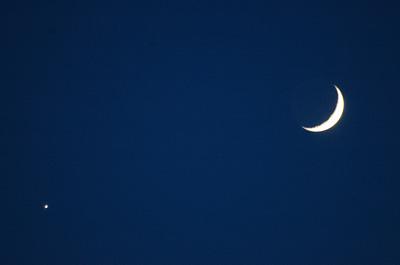 wassende maan en avondster